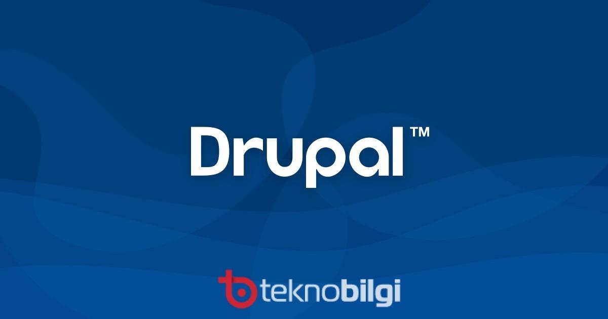Drupal sitesi nasıl kurulur, Drupal sitesi nasıl kurulur?