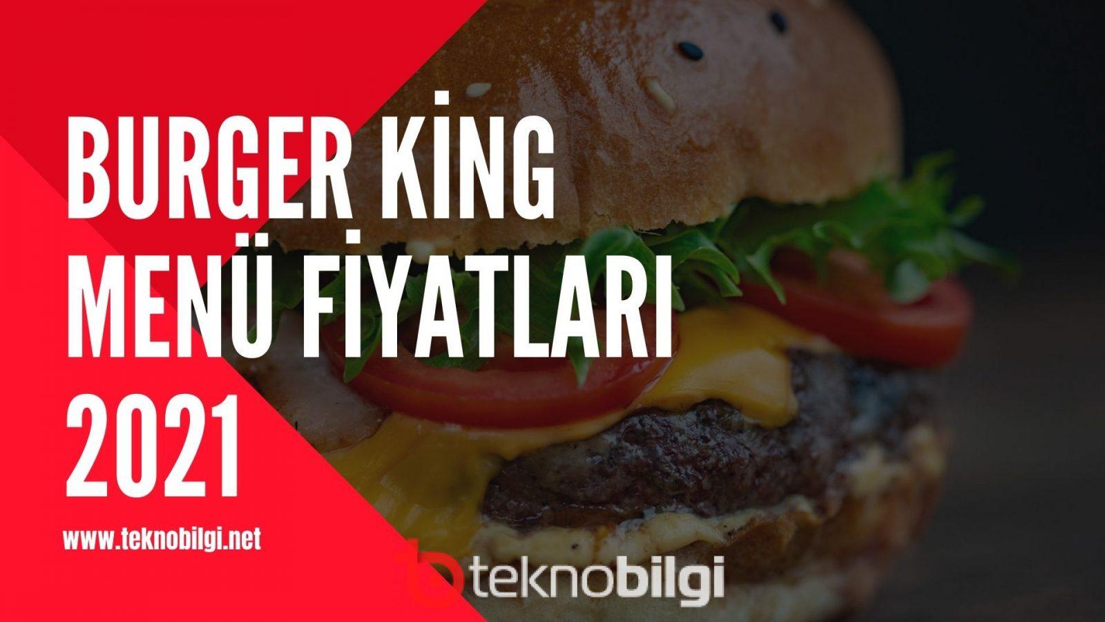 Burger King Menü Fiyatları, Burger King Menü Fiyatları