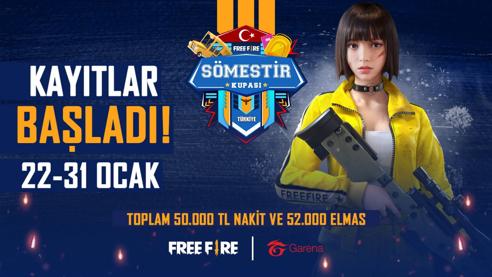 , Garena 2021 Yılında Türkiye'de Gerçekleştireceği İlk Turnuvası Free Fire Sömestir Kupası'nı Duyurdu