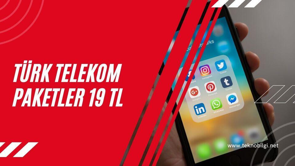 Türk Telekom Paketler 19 tl, Türk Telekom Paketler 19 tl