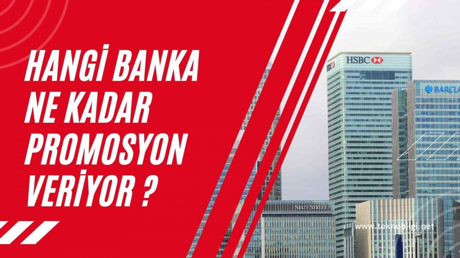 Hangi Banka Ne Kadar Promosyon Veriyor ?