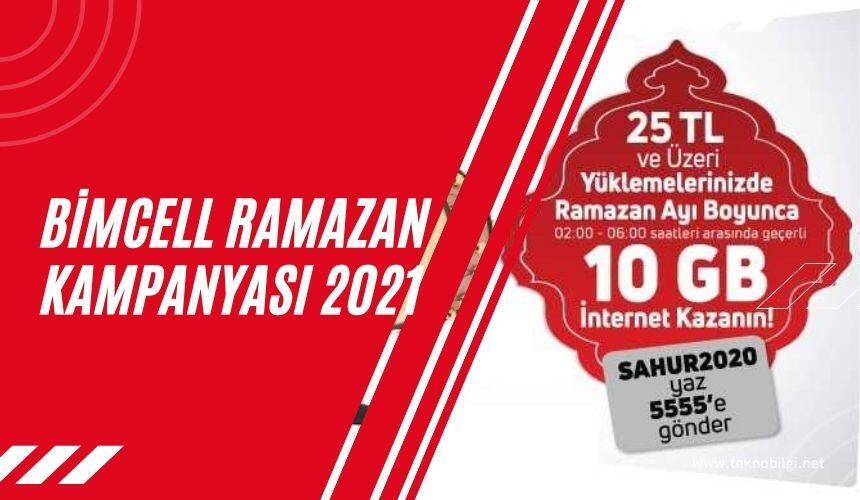 Bimcell Ramazan Kampanyası 2021, Bimcell Ramazan Kampanyası 2021